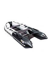 Лодка ПВХ Ривьера Компакт 3600 СК Комби черно/светло-серая, фото 2