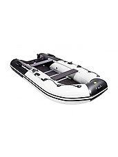 Лодка ПВХ Ривьера Компакт 3600 СК Комби черно/светло-серая, фото 3