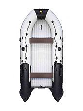 Лодка ПВХ Ривьера 4300 Килевое НД комби светло-серый/черный, фото 3