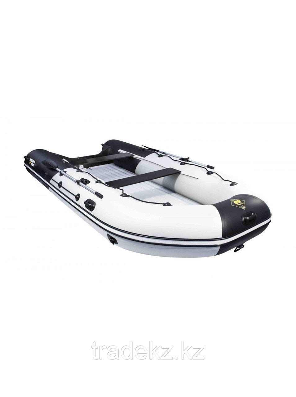 Лодка ПВХ Ривьера 4300 Килевое НД комби светло-серый/черный