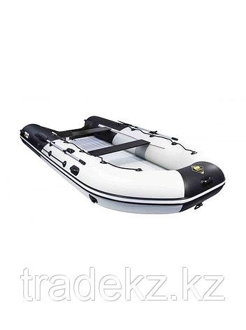 Лодка ПВХ Ривьера 4300 Килевое НД комби светло-серый/черный, фото 2