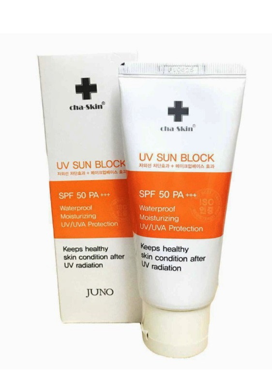 Cha-skin UV Sun Block SPF 50 PA+++ Солнцезащитный крем 70мл.