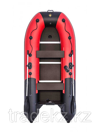 Лодка ПВХ Ривьера Компакт 3200 СК комби красный/черный, фото 2