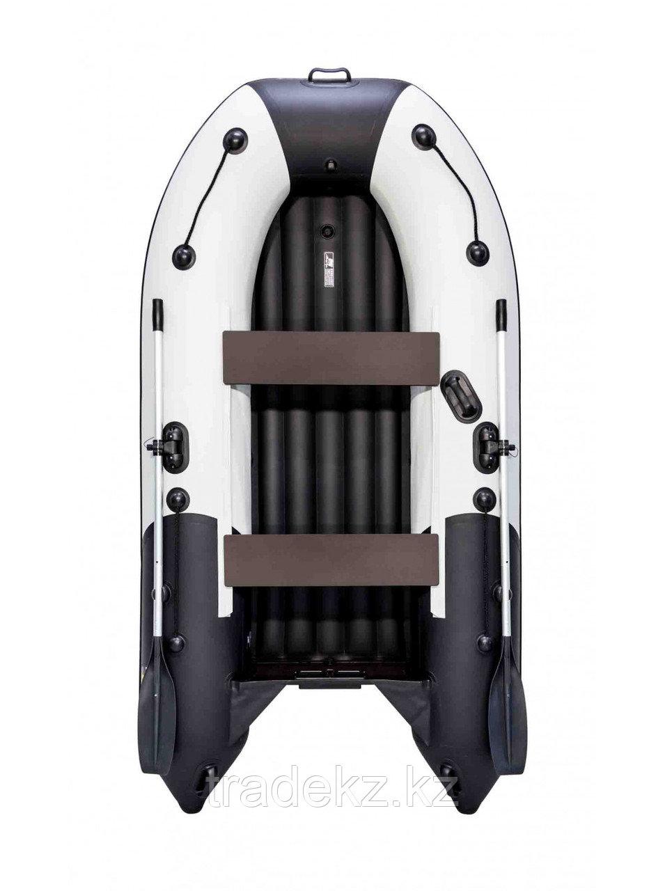 Лодка ПВХ Ривьера Компакт 2900 НДНД Комби светло-серый/черный