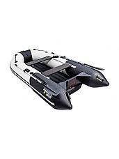 Лодка ПВХ Ривьера Компакт 2900 НДНД Комби светло-серый/черный, фото 2