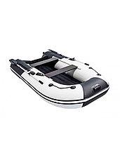 Лодка ПВХ Ривьера Компакт 2900 НДНД Комби светло-серый/черный, фото 3