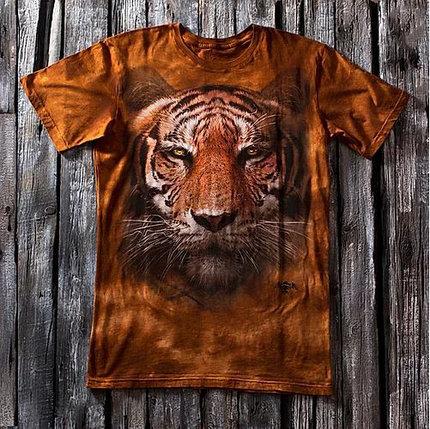 «Амурский тигр» мужская футболка 3D, фото 2