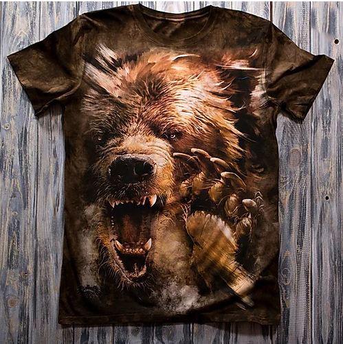 «Медведь» мужская 3D футболка