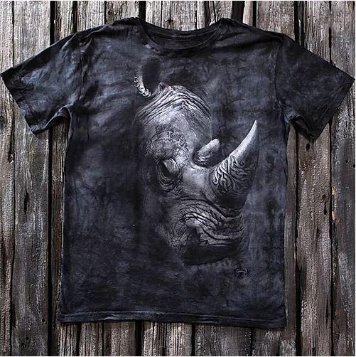 «Носорог» мужская молодежная футболка 3D