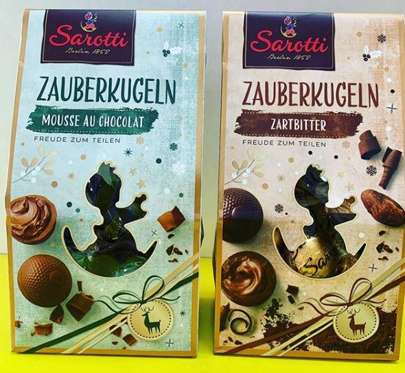 Шоколадные конфеты Sarotti Zauberkugeln 150 гр (марципан, нуга)