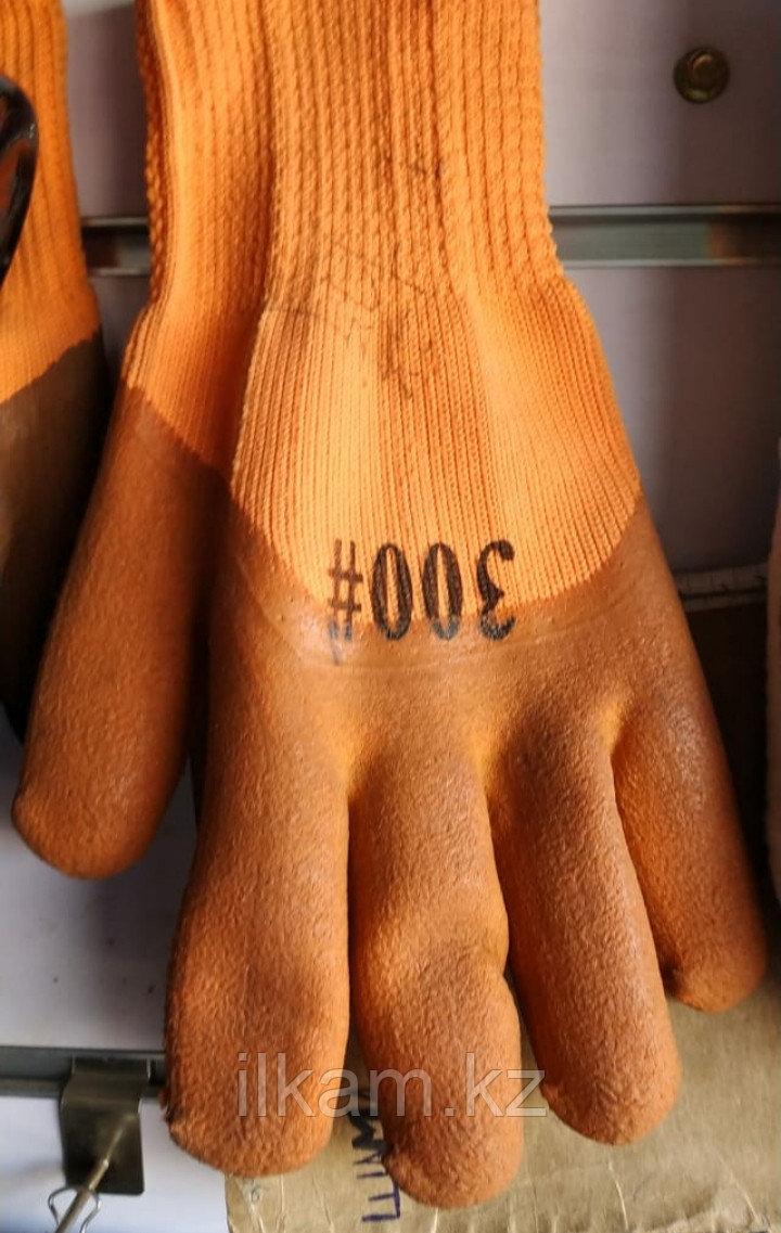 Перчатки 300# с коричневой обливкой