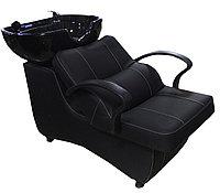 AS-006 Мойка парикмахерская с креслом (черная, гладкая)