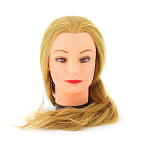 Болванка учебная для парикмахера ТМ-002 исскуст. волосы 60 см (блондинка) №67674(2)