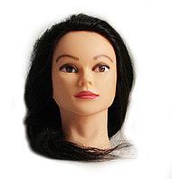 Болванка учебная для парикмахера ТМ-001 100% натур. волосы 60 см (не крашенный) №88136(2)