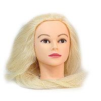 Болванка учебная для парикмахера ТМ-015 50% натур. волосы 80 см (блондин) №88150(2)
