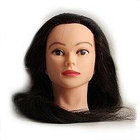 Болванка учебная для парикмахера ТМ-014 50% натур. волосы 80 см (темно-коричневый) №88198(2)