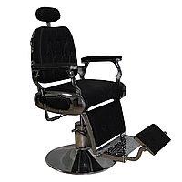 AS-7747 Кресло парикмахерское для барбершопа (черное, гладкое)
