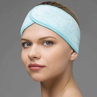 Повязка для волос махровая на липучке (1 шт) №80031(2)
