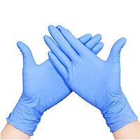 Перчатки латексные голубые L AISULU (50 пар) №71343(2)