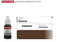 Пигмент для перманентного макияжа DOREME №231 Espresso 15 мл №77277
