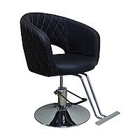 AS-7181 Кресло парикмахерское (черное, гладкое)