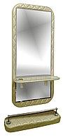 AS-5150 Зеркало навесное с подставкой для ног (золотистое)