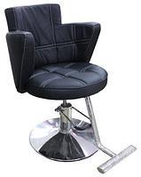 AS-8867 Кресло парикмахерское (черное, гладкое)