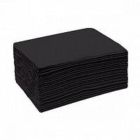 Полотенце одноразовое Спанлейс Черный бархат (35 х 70 см) белое (50 шт.) №3675