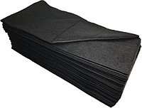 Полотенце одноразовое Спанлейс Черный бархат (45 х 90 см) белое (50 шт.) №43699