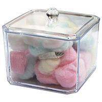 Ватные шарики в пластиковой посуде с крышкой (100 шт.) №64970(2)