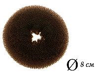 Валик для объема волос Q-65 темно-коричневый Ø 8 см AISULU (м) №11301(2)