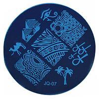 Трафарет для стемпинга JQ металлический/круглый 5,5 см №71251(2)