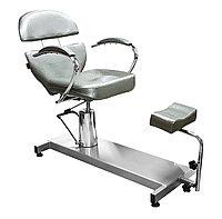 FM-615 Кресло педикюрное с откидной спинкой (серое, дождик)