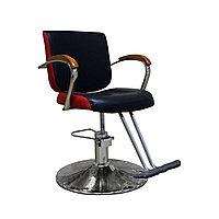 AS-8160 Кресло парикмахерское (черно-красное, гладкое)