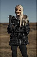 Куртка черная  женская короткая с капюшоном Marco Moretti Италия Черный, 44