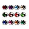 Серьги с камнями Starex стерильные (серебро) (1 шт.) №55381(2)