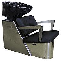 AS-8091 Мойка парикмахерская с креслом (черная)