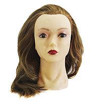 Болванка учебная для парикмахера ТМ-002 исскуст. волосы 60 см (песочно-коричневая) №33305
