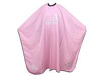 Пеньюар для парикмахера WB-10 с узором, розовый AISULU №13268(2)