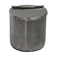 Стакан металлический с крышкой для инструм. #304 (S) №71022(2)