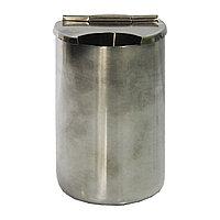 Стакан металлический с крышкой для инструм. #304 (M) №71039(2)