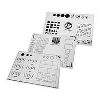 Коврик-трафарет силиконовый 40 х 30 см для практики и шаблона маникюрных работ №88426(2)