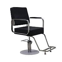AS-6699 Кресло парикмахерское квадратное (черное, гладкое)