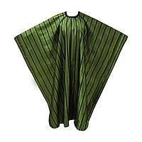 Пеньюар для парикмахера AISULU WB-26 (двусторон., 3D материал в полоску) зеленый №90818
