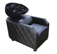 AS-007 Мойка парикмахерская с креслом (черная, гладкая)