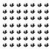 Серьги для прокола ушей в наборе 48 пар (в розовой уп.) №14076