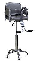 B-069 Кресло парикмахерское детское (серое, дождик)