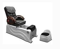 F-9827 Кресло педикюрное с джакузи (черное, гладкое)