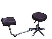TR-047 Подставка педикюрная с креслом для мастера без спинки (сиреневая, паутина)