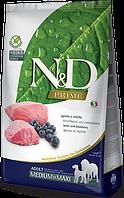 Беззерновой корм Farmina N&D для собак, средних и крупных пород (Ягненок с Черникой) - 2.5 кг